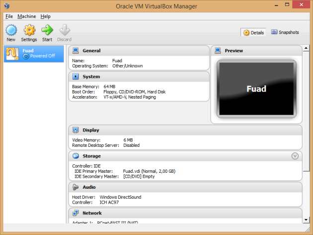 virtualbox done